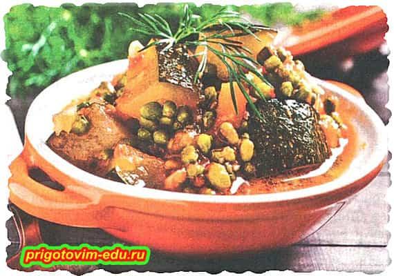 Тушёные Овощи с фасолью маш в мультиварке