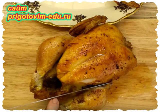 Курица запеченная в духовке с сыром