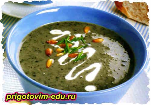 Легкий грибной суп на молоке