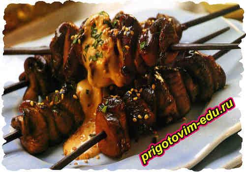 Шашлык из курятины по-индонезийски