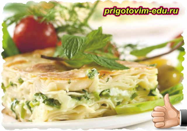 Турецкий пирог Бурек с сыром и зеленью