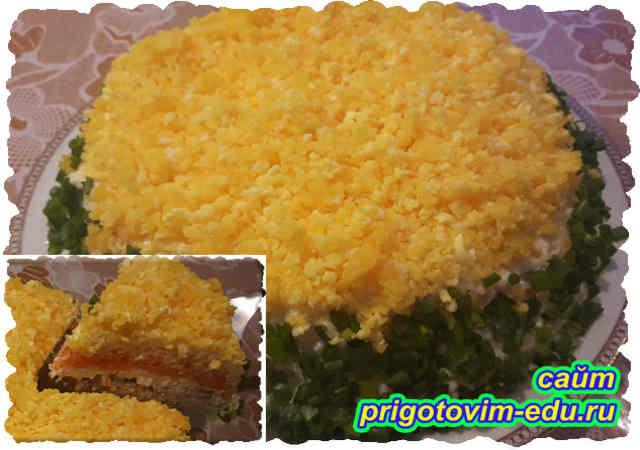 Салата мимоза с сайрой и сыром. Видео рецепт