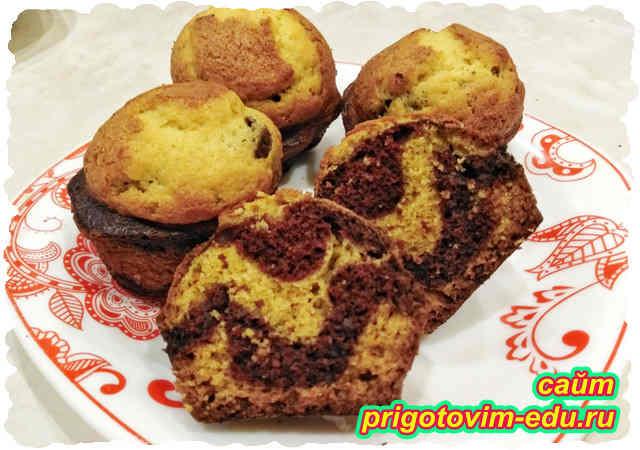 Шоколадно-тыквенные кексы. Видео рецепт