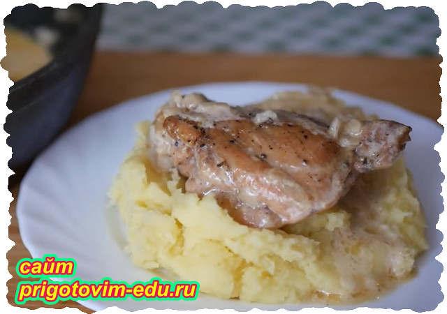 Курица по-кабардински в сметане (Гедлибже)