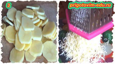 Рецепт приготовления рыбы запеченной в духовке с картофелем под сыром 3