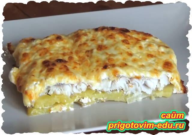 Рыба запеченная в духовке с картофелем