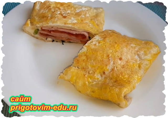 Закуска из лаваша с сыром и колбасой