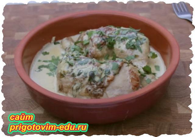 Чкмерули из курицы грузинская кухня
