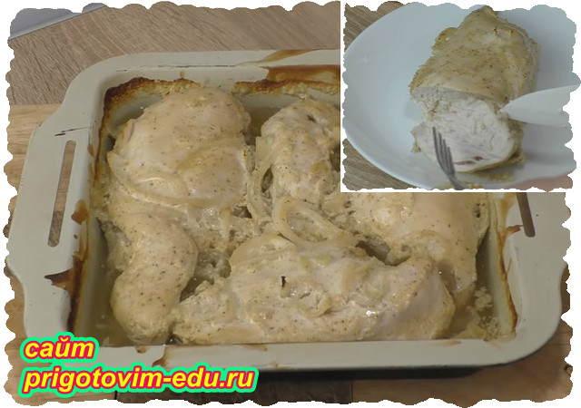 Куриная грудка в кефире в духовке