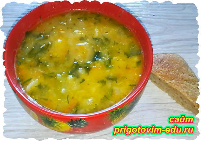 Куриный суп с чечевицей и цветной капустой