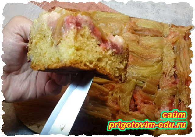 Пирог с клубникой и ревенем. Видео рецепт