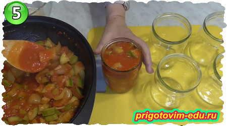 Рецепт консервированного лечо из кабачка в томатной пасте