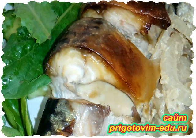 Рыба запеченная в горчичном маринаде
