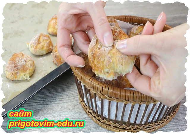 Сырные булочки с ветчиной