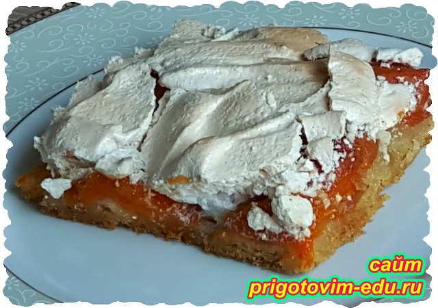 Пирог с абрикосами и безе. Видео рецепт