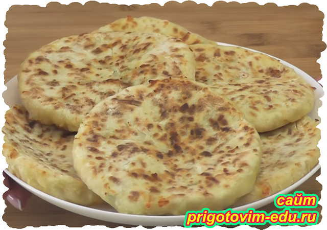 Сырные лепешки на кефире на сковороде
