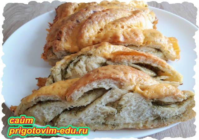 Пирог с сыром и зеленью. Видео рецепт