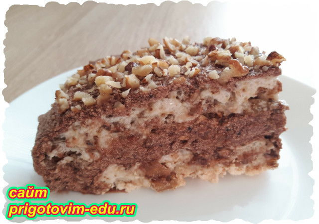 Меренговый торт с грецкими орехами