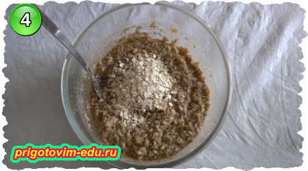 Рецепт овсяного печенья с яблоком