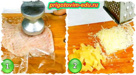 Рецепт закуски из куриного филе в тесте