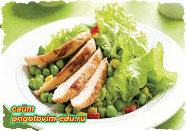 Салат из индейки с овощами и зеленью