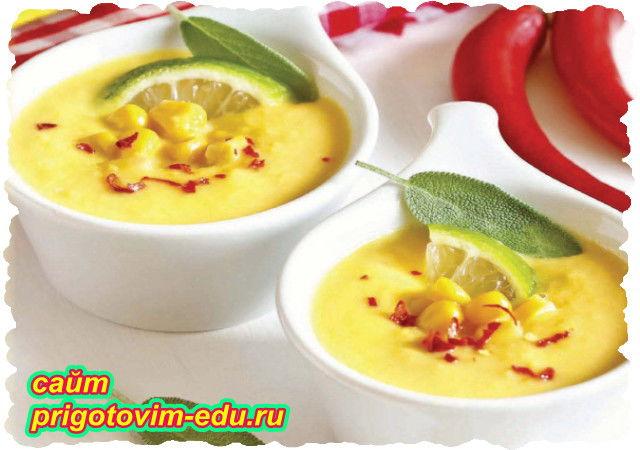 Сливочный крем суп с кукурузой