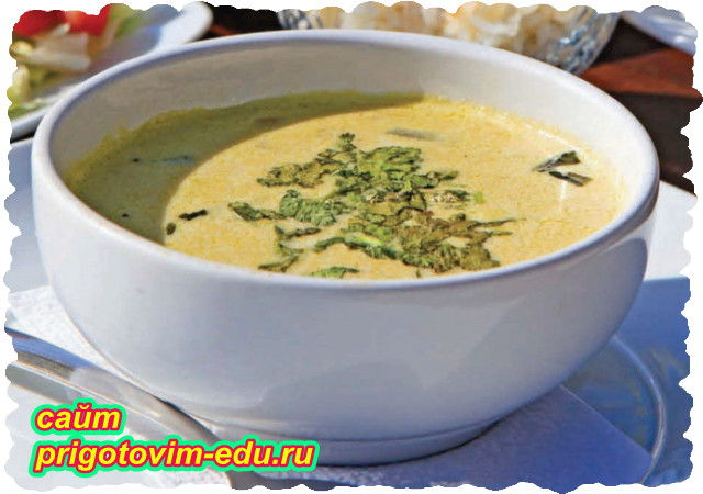 Сырный крем суп с цветной капустой