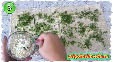Рецепт рулета из лаваша с соленой красной рыбой и творогом