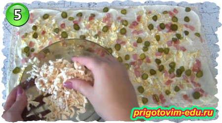 Рецепт рулета из лаваша с ветчиной и солеными огурцами