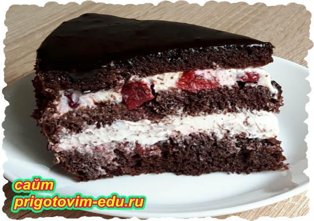 Шоколадный торт с вишней. Видео рецепт