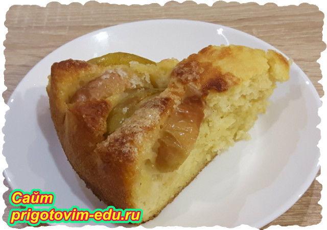 Пирог из дрожжевого теста с фруктами. Видео рецепт