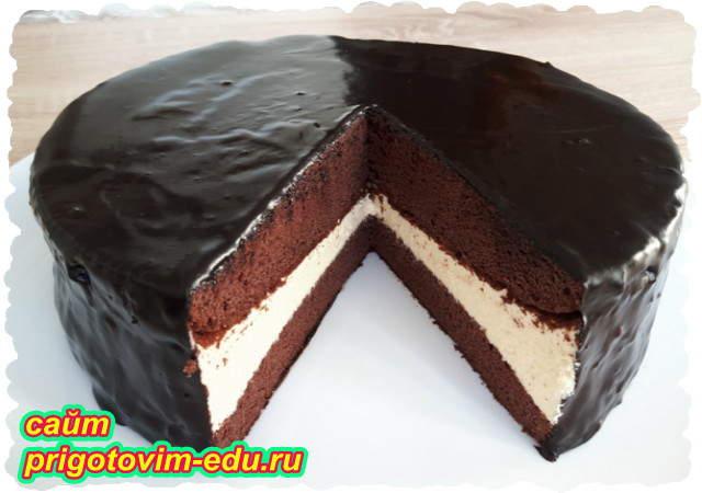 Торт эскимо с шоколадной глазурью