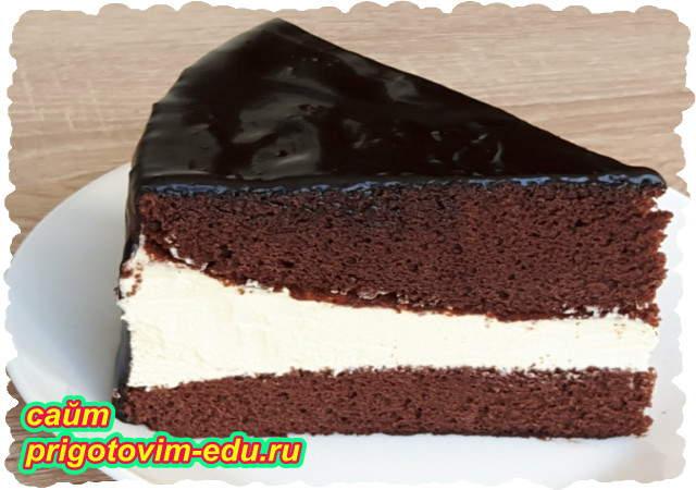Торт эскимо с шоколадной глазурью. Видео рецепт