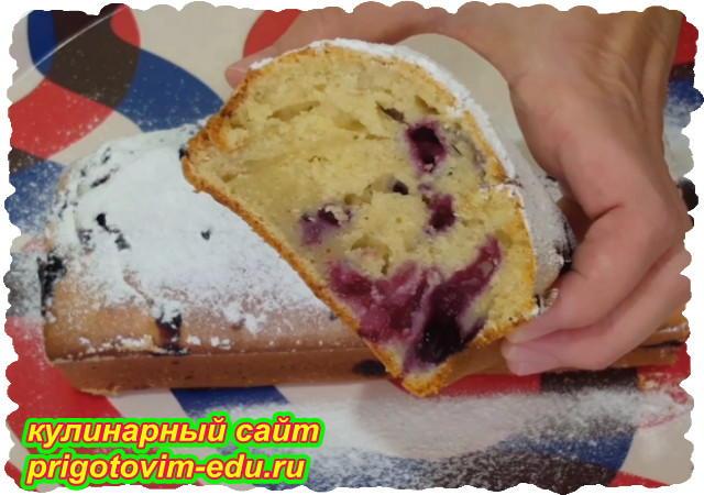 Пышный ягодный кекс на кефире.Видео рецепт