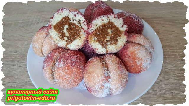 Печенье персики со сгущёнкой