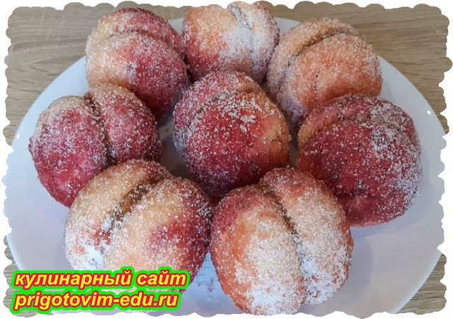 Печенье персики со сгущёнкой. Видео рецепт