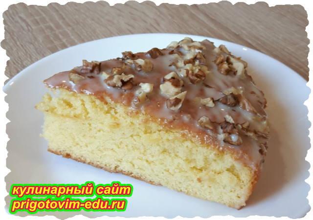 Пирог к чаю со сгущенкой. Видео рецепт