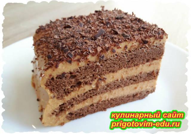 Шоколадный торт без муки со сгущёнкой