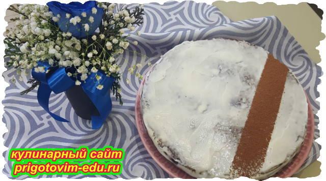 Торт с вареньем Негр в Пене