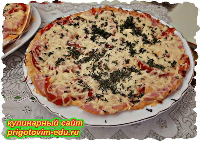 Ленивая пицца на сковороде из лаваша за 15 минут