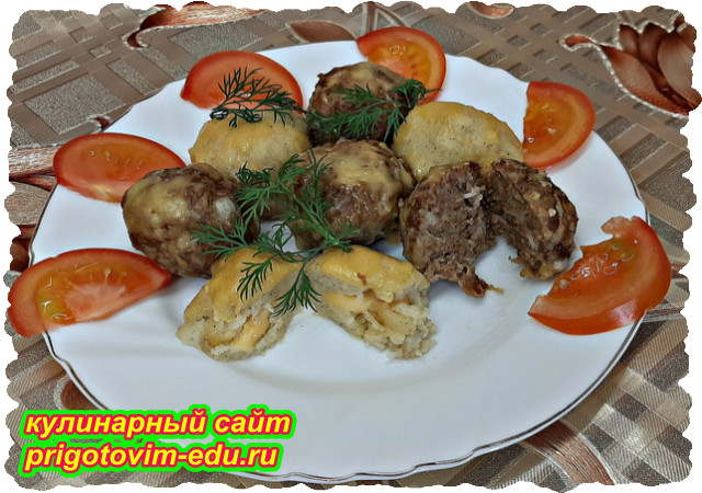 Мясные и Картофельные шарики приготовленные в духовке