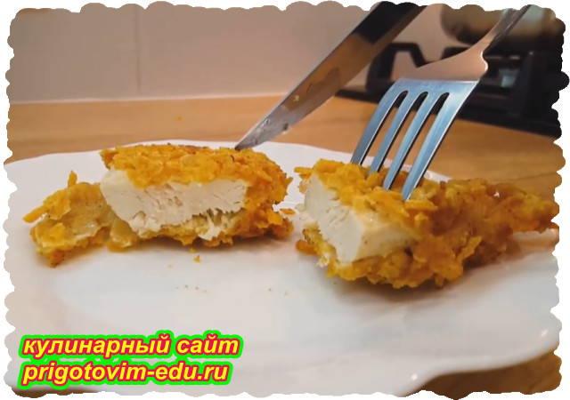Стрипсы из куриного филе домашнего приготовления