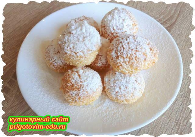 Печенье с кокосовой стружкой. Видео рецепт