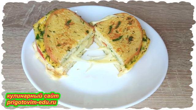 горячие бутерброды на завтрак с сыром и помидорами