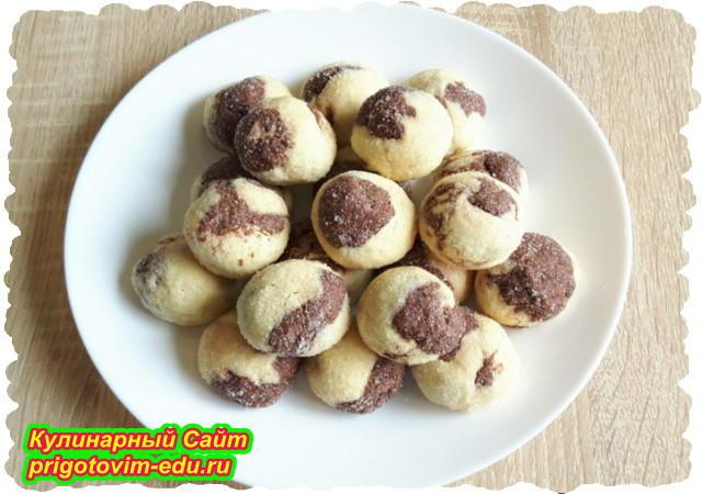 Песочное печенье с какао. Видео рецепт