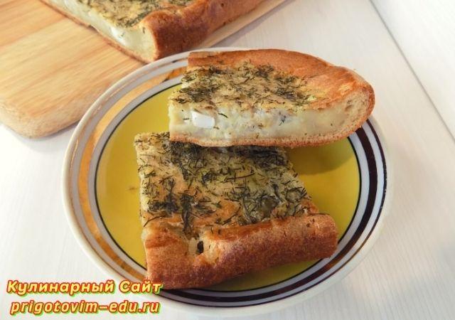 Заливной рыбный пирог из консервов с рисом. Видео рецепт