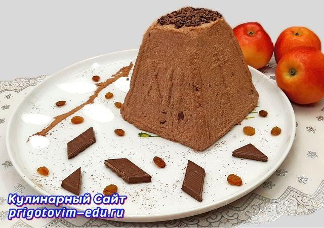 Творожная шоколадная пасха. Видео рецепт