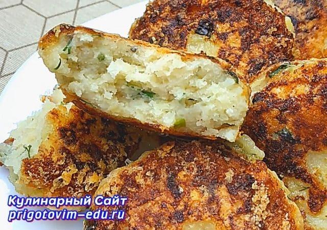 Котлеты из вареного картофеля с сыром