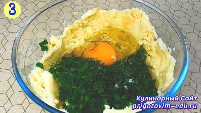 Рецепт котлет из вареного картофеля с сыром 3