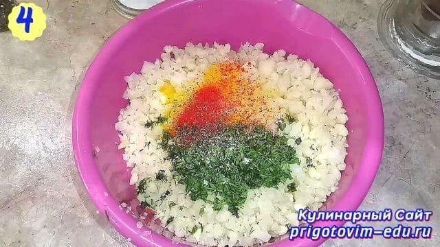 Рецепт овощных котлет из цветной капусты 4